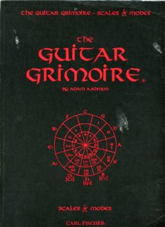 The Guitar Grimoire: A Compendium of Formulas for Guitar Scales and Modes