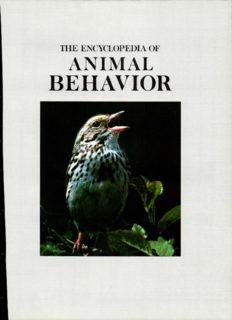 The Encyclopedia of Animal Behavior (Encyclopedia of Animal Series)