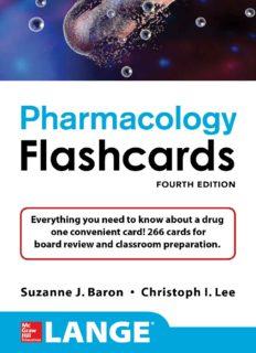 LANGE Pharmacology Flashcards