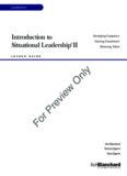 Introduction to Situational Leadership II - Ken Blanchard