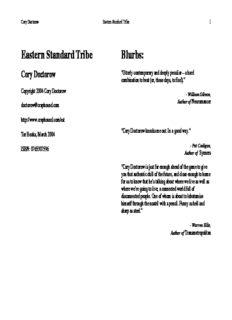 Cory Doctorow - Eastern Standard Tribe
