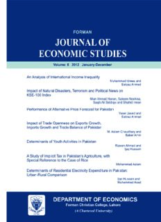 Forman Journal of Economic Studies VOL 8