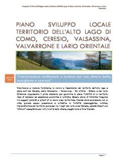 piano sviluppo locale territorio dell'alto lago di como, ceresio, valsassina, valvarrone e lario orientale
