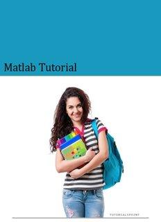Download MATLAB Tutorial (PDF Version) - Tutorials Point
