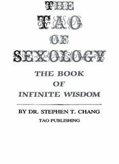 The Tao of Sexology: The Book of Infinite Wisdom