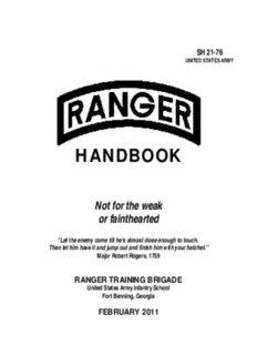 Ranger Handbook - Fort Benning - U.S. Army