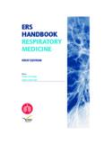 ERS HANDBOOK RESPIRATORY MEDICINE