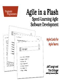 Agile in a flash : speed-learning Agile software development : Agile cards for Agile teams