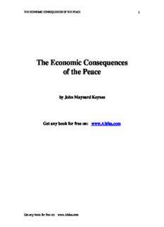 Keynes, John Maynard - The Economic Consequences of the Peace