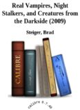 Real Vampires, Night Stalkers, and Creatures from the Darkside