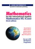 IB Maths. Textbook HL Core