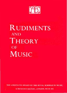 Rudiments and Theory of Music Based on the Syllabus of the Theory Examination of the Royal Schools of Music