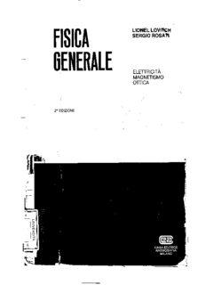 Lionel Lovitch, Sergio Rosati - Fisica Generale 2 - Elettricità Magnetismo Ottica