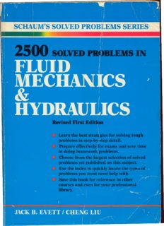 2500 Solved Problems in Fluid Mechanics and Hydraulics (Schaum's Solved Problems)