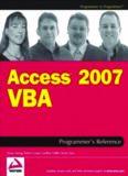 Access 2007 VBA: Programmer's Reference