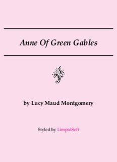 Anne Of Green Gables - LimpidSoft
