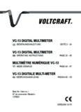 VC-13 DIgITaL MuLTIMETEr VC-13 DIgITaL MuLTIMETEr MuLTIMèTrE NuMérIquE VC-13 VC-13 ...