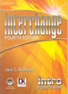 Interchange 4th Edition Intro Student Book