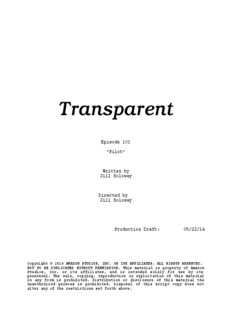 Transparent Jill Soloway Pilot