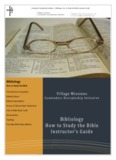 Bibliology and How to Study the Bible - Contenders Discipleship