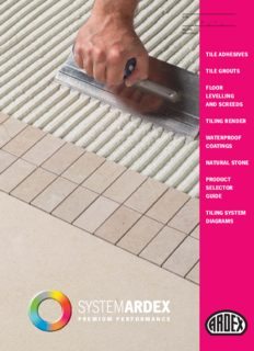 tile adhesives tile grouts floor levelling and screeds tiling render waterproof coatings natural stone