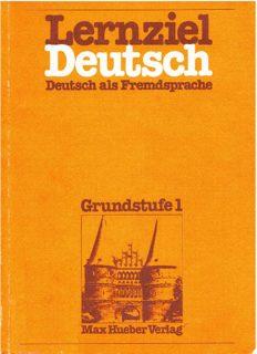 Lernziel Deutsch, Deutsch als Fremdssprache, Grundstufe 1