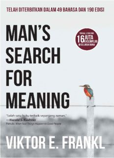 Man's search for meaning (Indonesian Edition)