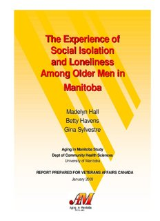 The Experience of Social Isolation and Loneliness Among Older