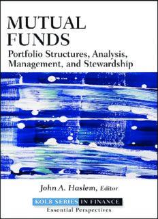 Mutual Funds: Portfolio Structures, Analysis, Management, and Stewardship (Robert W. Kolb Series)