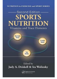 Sports Nutrition - Vitamins and Trace Elements (2nd Ed.); Volume of Nutrition in Exercise and Sport Series – CRC-Taylor & Francis