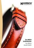 Das HIRSCH Armbandsystem The HIRSCH Bracelet System