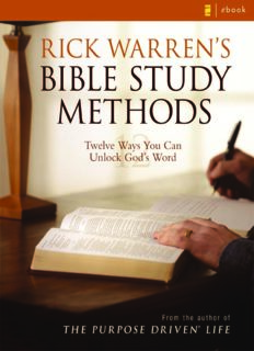 Rick Warren's Bible Study Methods
