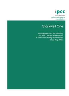 IPCC Stockwell One Report - News