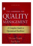 The Handbook for Quality Management A Complete Guide to Operational Excellence