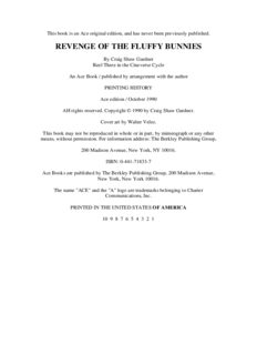 Craig Shaw Gardner - Cineverse 3 - Revenge of the Fluffy Bunnies