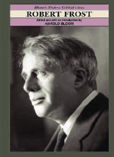 Robert Frost (Bloom's Modern Critical Views)