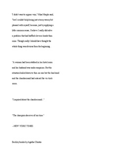 The Reggata Mystery By Agatha Christie