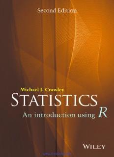 Statistics An Introduction Using R Second Edition Michael J. Crawley