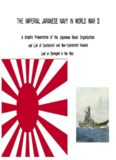 The Imperial Japanese Navy in World War II : a graphic presentation of the Japanese naval organization and list of combatant and non-combatant vessels lost or damaged in the war