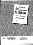 Advanced Jazz Conception for Saxophone (Sequel to Jazz Conception for Saxophone Volume 1)