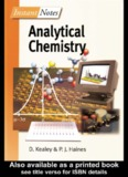 Instant Notes: Analytical Chemistry