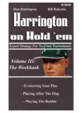 Harrington on Hold 'em. Volume 3.