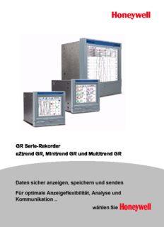 GR Serie-Rekorder eZtrend GR, Minitrend GR und Multitrend GR Daten sicher anzeigen ...