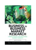 Business to Business Market Research: Understanding and Measuring Business Markets (Market Research in Practice)