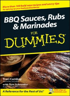BBQ Sauces, Rubs & Marinades For Dummies (For Dummies (Cooking))