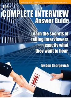 The Complete Interview Answer - s3.amazonaws.com