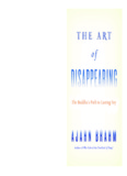The Art of Disappearing - Dhamma Talks