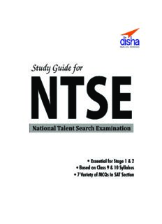 Study Guide for NTSE (SAT MAT and LCT) Class 10 with Stage 1 and 2 Past Question Bank ebook 9th Edition Disha