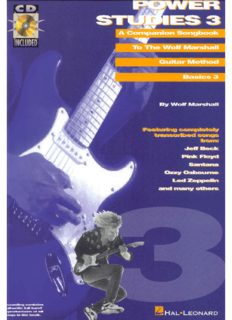 Power Studies: A Companion Songbook to the Wolf Marshall Guitar Method