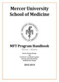 MERCER UNIVERSITY SCHOOL OF MEDICINE - Welcome to Mercer